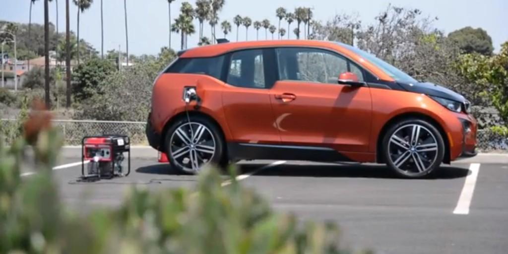 BMW i3 abastecido a gerador