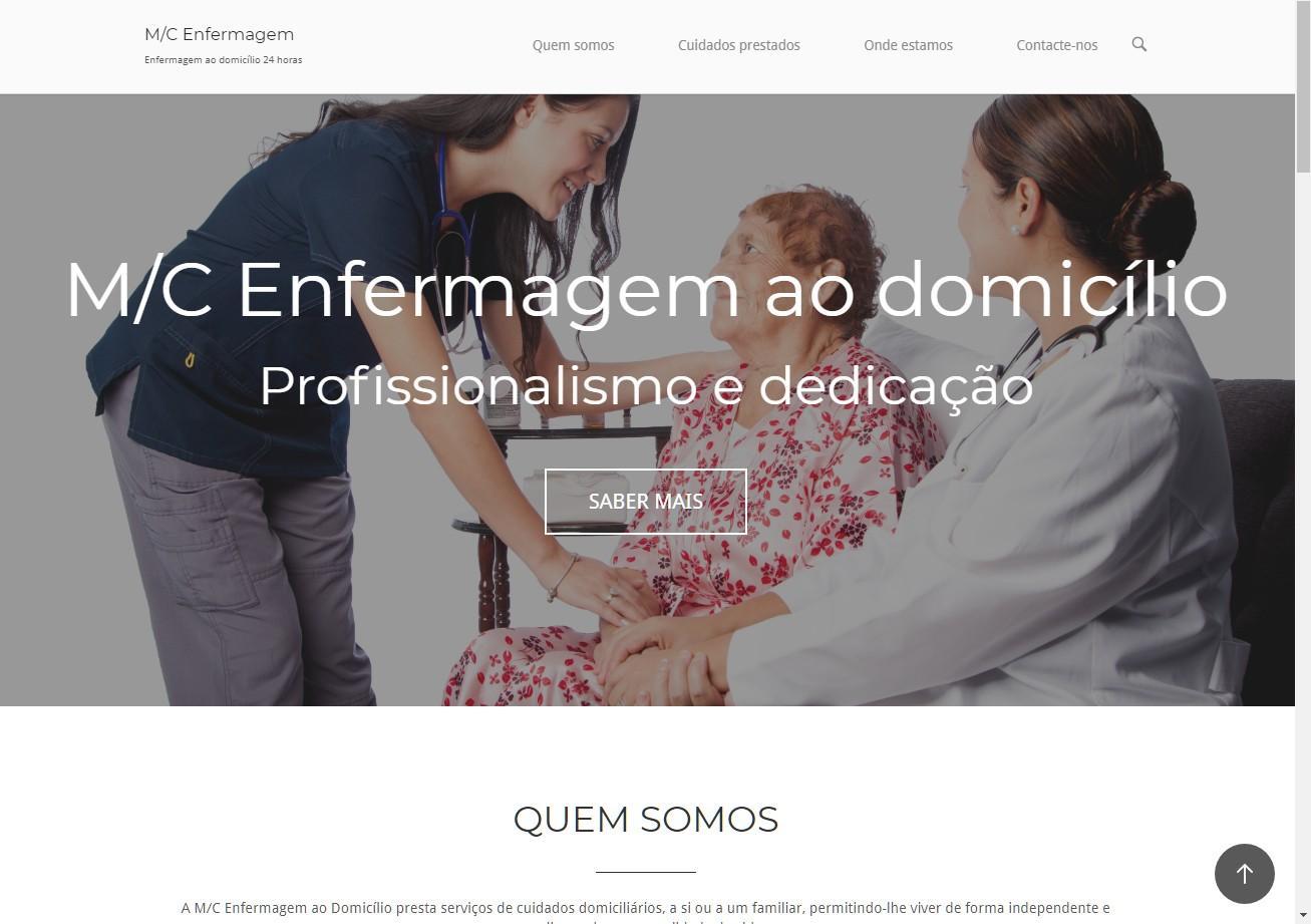 Portfolio website Enfermagem ao Domicilio