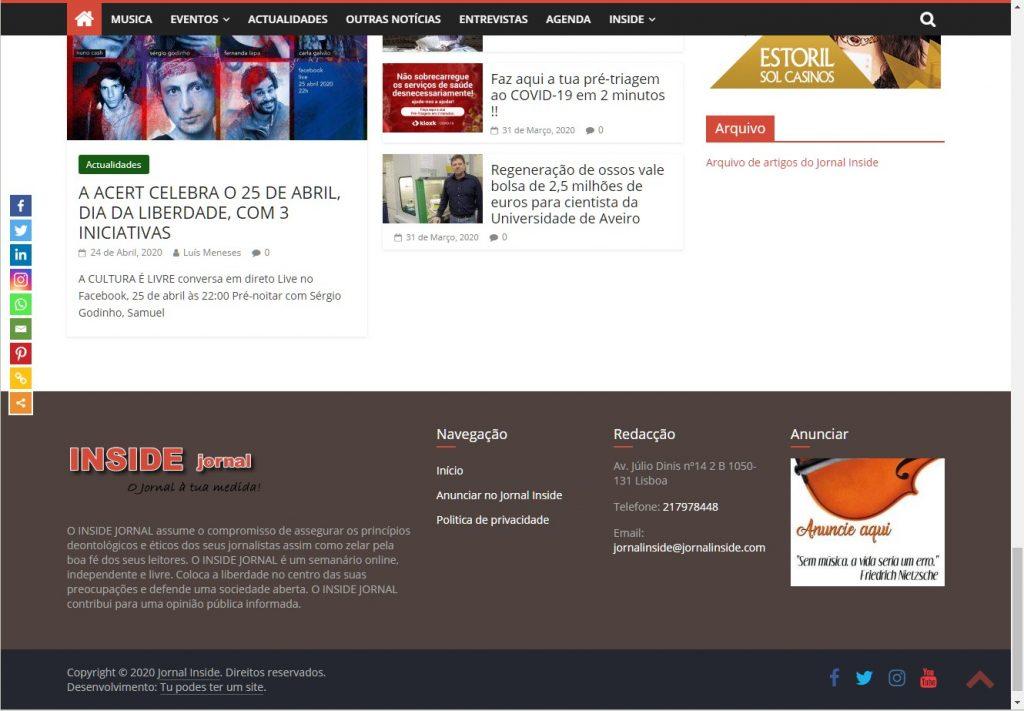 Portfólio portal notícias