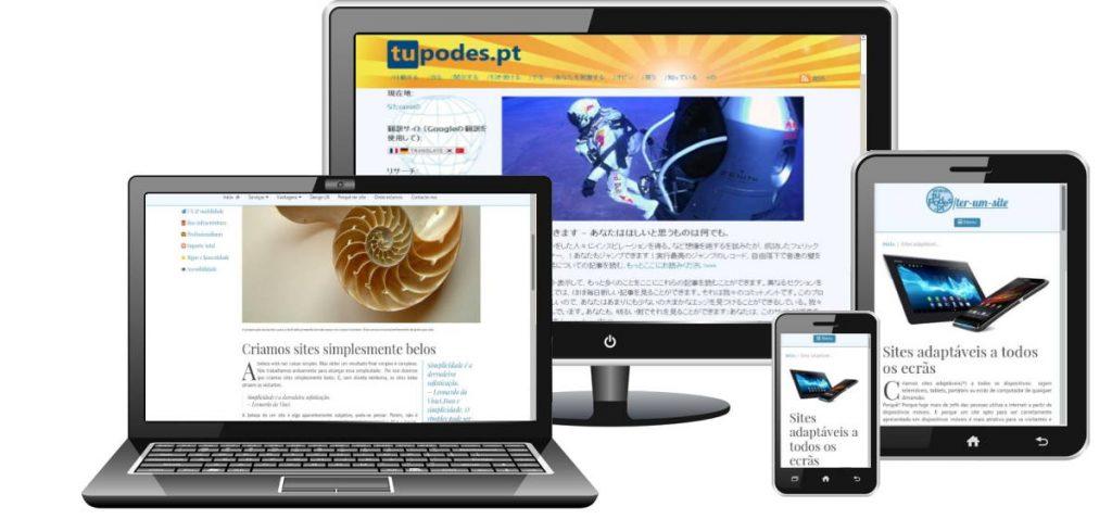 Portfolio de sites Tupodes.pt