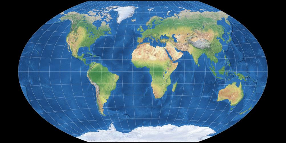 O que está errado no mapa do mundo?